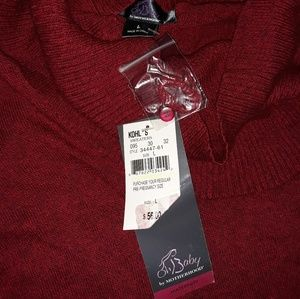 Nwt Oh baby by motherhood dark red sweater